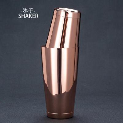 玫瑰金版氷子波士頓 水子波士頓氷子搖酒壺矮款雙手波士頓調酒器搖酒壺Shaker【定制】