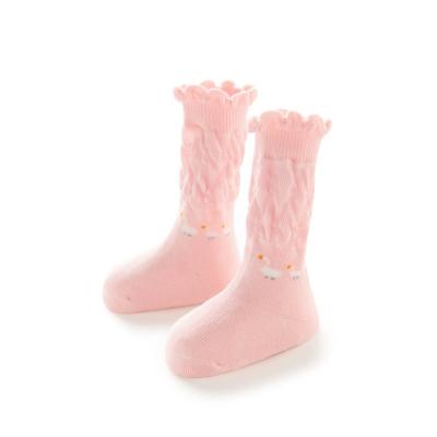全棉时代婴儿长筒棉袜子儿童儿宝宝防滑袜女童秋冬厚款透气