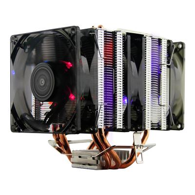 大水牛(BUBALUS)T8 CPU風冷散熱器 官方正品 (支持AM4/支持多平臺/4銅導熱管/3LED風扇/智能溫控)