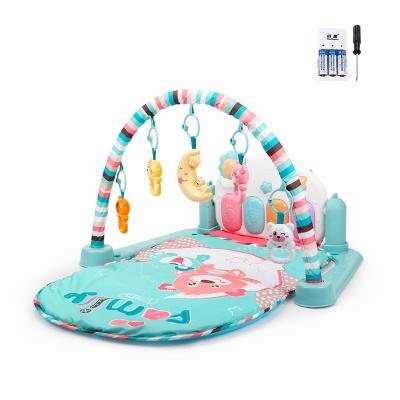 貝恩施嬰兒腳踏琴鋼琴健身架器新生兒寶寶音樂兒童玩具0-1歲3個月 Family貝尼熊【套餐一】【4.15前發貨】