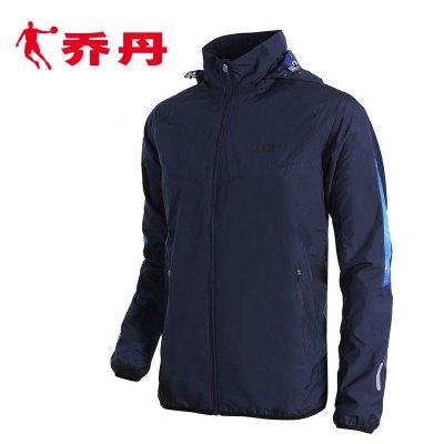 乔丹男装外套2019春季新款长袖休闲款连帽运动梭织风衣运动服XFD1362208