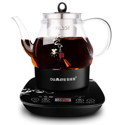 欧美特(OUMETE)M-PC108E煮茶器黑茶煮茶壶蒸汽自动电茶壶泡茶花茶养生壶701-800ml高硼硅玻璃