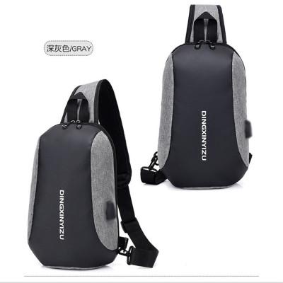 潘达家包包PADAJABA 2019韩版时尚单肩斜挎胸包 USB充电胸包休闲旅行小包