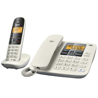 集怡嘉(Gigaset)原西门子电话机座机子母机A280数字无绳电话机中文来电显示免提家用办公固定电话一拖 象牙白