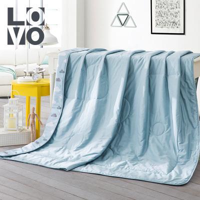 LOVO 100%純棉夏被空調被夏涼被全棉抗菌春秋被子可水洗機洗薄被芯