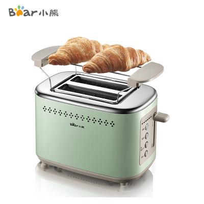 小熊(bear)多士爐 DSL-C02A1 烤面包片機全自動家用小型 斷電記憶其他吐司機不銹鋼2片早餐機神器三明治機