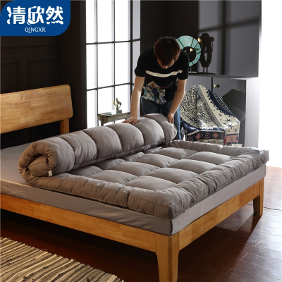 清欣然(QinGXR)家纺 羽丝绒立体床垫学生宿舍单人0.9m 1.2米1.5床1.8m床褥垫垫被