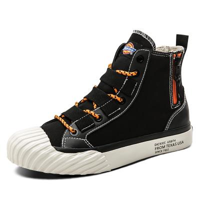 DICKIES男鞋2019春季新高帮帆布鞋潮流街头青年黑色板鞋191M50LXS03