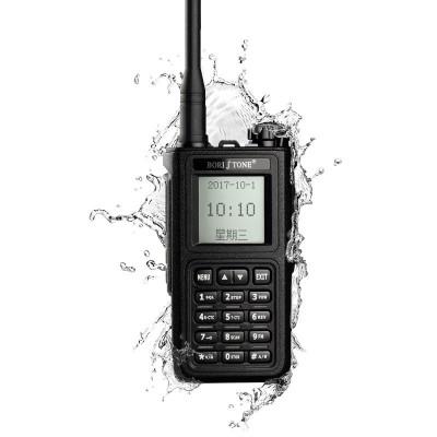BORI TONE堡利斯通潜水舰2 自动对频调频对讲机民用手持机 大功率10公里防水户外自驾游手台 黑色有屏幕
