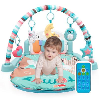 貝恩施(beiens) 嬰兒玩具 0-1歲 遙控器床鈴/搖鈴鋼琴健身架 早教益智安撫 爬爬墊可水洗 塑料月亮燈B210