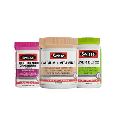 3件裝 | Swisse全家組合(護肝片+鈣&VD片*1+蔓越莓)