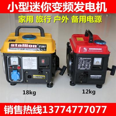 闪电客便携式汽油发电机家用1000w220v伏小型户外低静音车载发电机 全铜变频1000W 12公斤 抖音