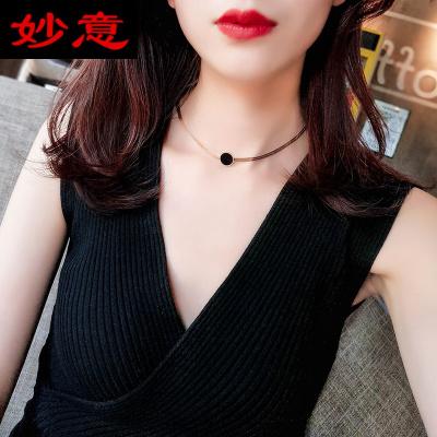 妙意歐美金屬項鏈潮人復古choker項圈短款鎖骨鏈韓國頸鏈脖子飾品女
