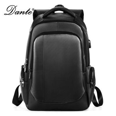 Dante丹迪新款雙肩包男士耐磨usb充電旅行背包休閑牛津布