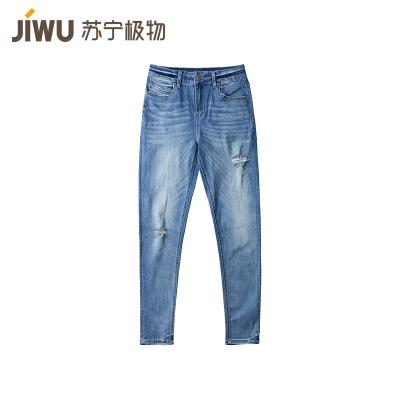 JIWU брэндийн эмэгтэй jeans-н өмд уранхай загварын гүн цэнхэр 28