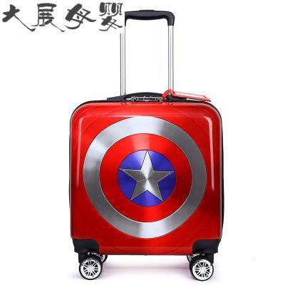 儿童拉杆箱定制logo男女孩18寸20寸旅行箱可坐行李箱万向轮登机箱