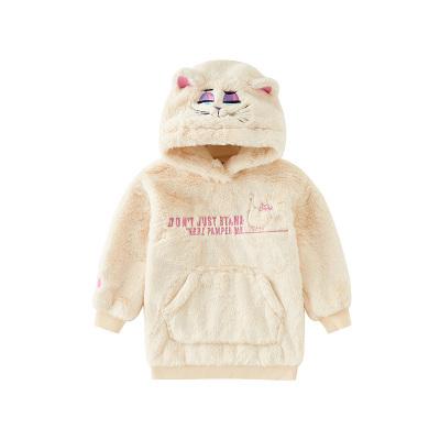 【爱宠大机密IP款】小猪班纳女童连帽毛绒卫衣女宝宝保暖绒衣加厚