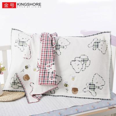 金號純棉毛巾料枕巾 2條成人卡通枕巾全棉加大厚雙層布藝柔軟一對52*76cm