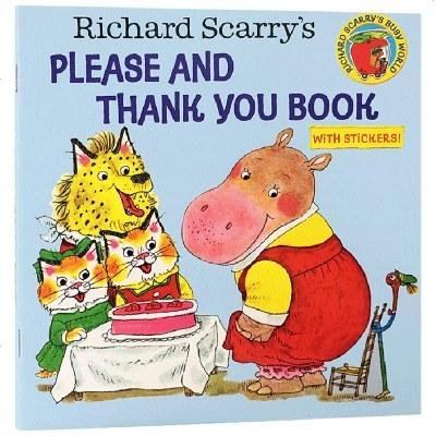 英文原版兒童繪本 拜托了與謝謝你 Richard Scarry's Please and Thank You Boo