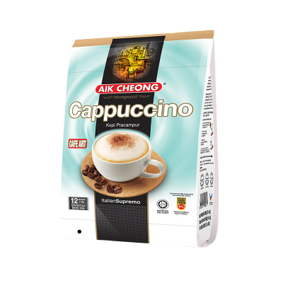 【3秒冲出卡布奇诺】益昌老街(AIK CHEONG)卡布奇诺咖啡粉 300g/袋 进口 咖啡粉 速溶咖啡 马来西亚进口