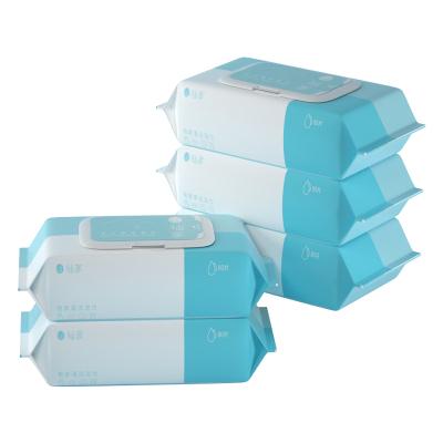 柚家 清潔濕巾濕紙巾抽紙嬰兒手口柔濕巾殺菌80片5包