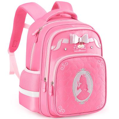 迪士尼(Disney)愛麗絲書包小學生女童1-3年級公主7-10歲女孩兒童減負雙肩背包SA80021玫紅