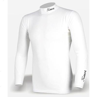 加绒 高尔夫打底衫男士长袖白黑色高尔夫防晒衣透气加厚