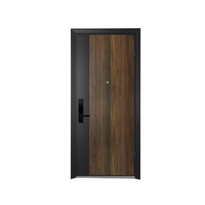 欧铂尼木门入户门进户门甲级防盗门定制钢木门莱顿装甲门