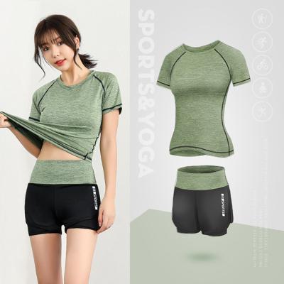 瑜伽服套裝女士速干時尚健身服女士運動套裝女網紅跑步休閑兩件套2020春夏新品