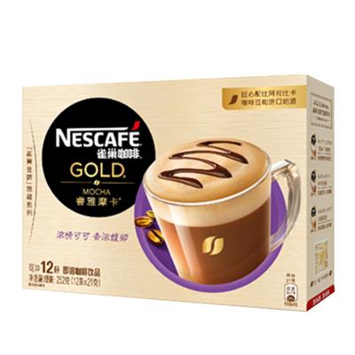 雀巢(Nestle)金牌館藏睿雅摩卡咖啡 21gX12條 速溶咖啡