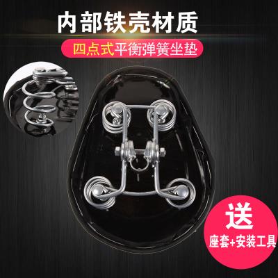 电动车坐垫车座电瓶车鞍座座椅座包自行车加大加厚铁壳四个弹簧571506349335