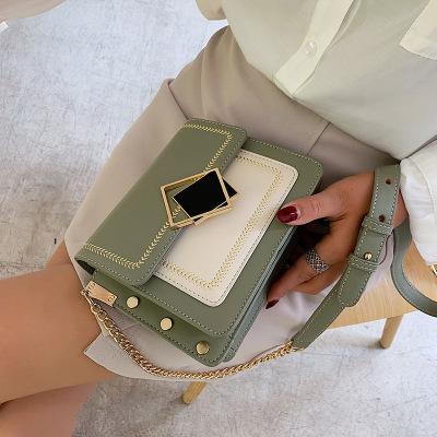 單肩包女士夏天小清新女包 流行新款韓版潮時尚單肩包百搭鏈條斜挎包