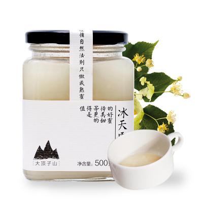 北大荒 東北黑蜂 冰天雪蜜 椴樹成熟蜜 純蜂蜜500g 玻璃瓶裝