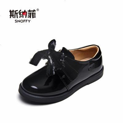 斯納菲女童皮鞋時尚單鞋韓版2019秋季新款中大童小女孩兒童公主鞋