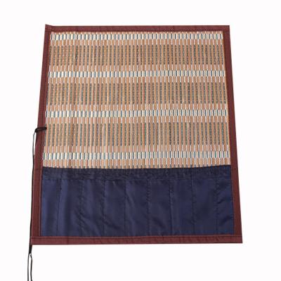 包边带布学生笔帘笔袋 毛笔笔帘文房用品 可定制竹帘