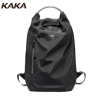 KAKA雙肩包男時尚潮流大容量休閑旅行包輕便電腦包背包高中大學生書包雙肩包背包男女