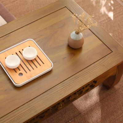 汐巖東北炕桌實木農村家用榻榻米小茶幾簡約現代飄窗桌子榆桌矮桌