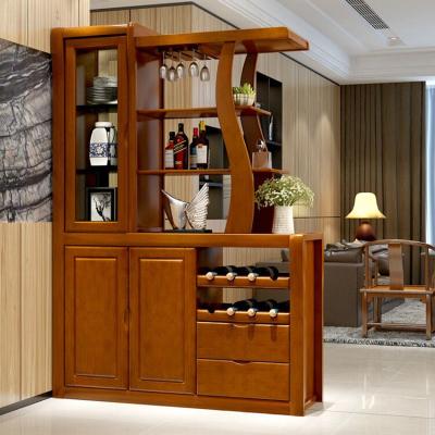 青木川 客厅餐厅实木酒柜 间厅柜 隔断柜双面 两面储物柜柜鞋柜 进门入户风水玄关门厅柜 现代中式