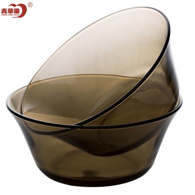 青蘋果法式鋼化玻璃餐具2件套 餐盤沙拉碗 水果碗碟盤