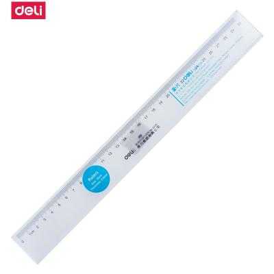 得力deli6230直尺30cm塑料直尺直尺繪圖制圖工具尺透明塑料尺子測量5把裝