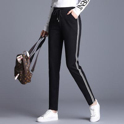 冪凝運動褲女2020春秋裝新款大碼寬松顯瘦黑色直筒褲子休閑褲