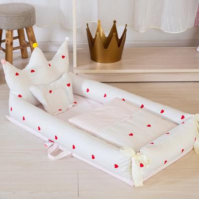 婴儿床便携式床中床可折叠仿生卡通床上多功能儿小床防压神器