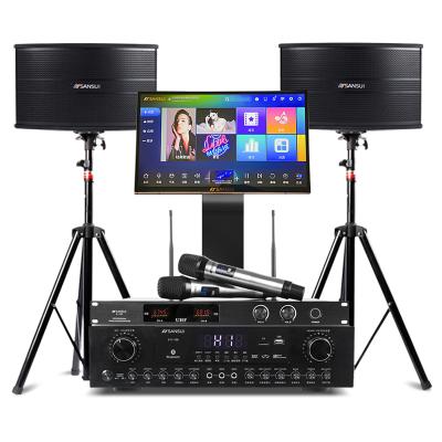 山水(SANSUI) SP9-10 家庭KTV音響家庭影院套裝點歌機卡拉OK功放機無線k歌會議音箱 10吋套餐
