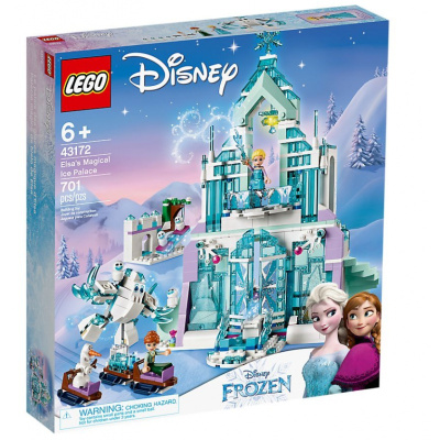 LEGO乐高 Disney Princess迪士尼公主系列 艾莎的魔法冰雪城堡43172 积木玩具