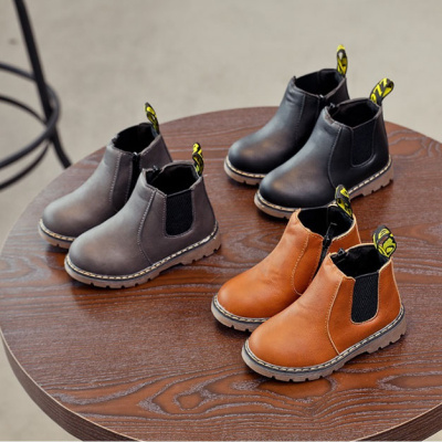 芳棋云品牌秋冬兒童馬丁靴女童靴子寶寶雪地靴防水防滑皮靴男童短靴棉鞋棉靴