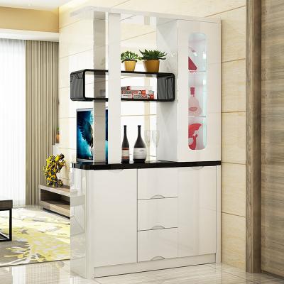 新柜爾(xin gui er furniture)客廳門廳柜雙面烤漆玄關柜間廳柜小戶型屏風隔斷柜酒柜多用收納柜家用入戶