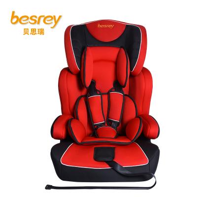 德國besrey兒童安全座椅9個月-12歲 汽車安全座椅可配isofix接口 BY1571 番茄紅