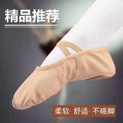 舞蹈鞋儿童红色女练功鞋形体软底男跳童猫爪成人幼儿芭蕾舞鞋 衫伊格(shanyige)