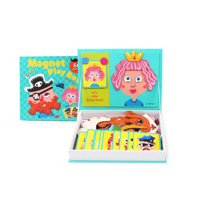 Joan Miro 美樂兒童拼圖磁性貼早教益智玩具3-4-6歲磁鐵書磁貼拼圖禮盒 百變造型