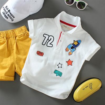 兒童男童短袖棉T恤夏裝2020新款中小童夏季POLO衫翻領寶寶韓版莎丞(SHACHEN)